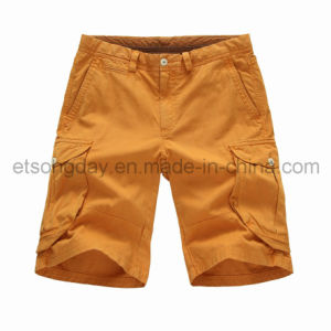 Cotton Linen Orange Men′s Shorts (42U19AF) pictures & photos