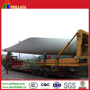 Turntable Wind Blade Turbin Transport Trailer for Mountain Road pictures & photos