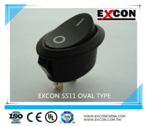 Oval Type Rocker Switch Excon Ss11 with High Quality Boat Switch Micro Switch