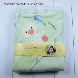 Wholesale Baby Velvet/Cotton Swaddle Blanket Hooded Towel Poncho pictures & photos