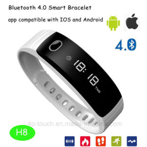 2017 Hot Android/Ios Smart Bluetooth Bracelet with IP56 Waterproof H8 pictures & photos