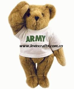 Custom Teddy Bear on Stuffed Custom Printing Army Teddy Bear With White T Shirt Toys Plush