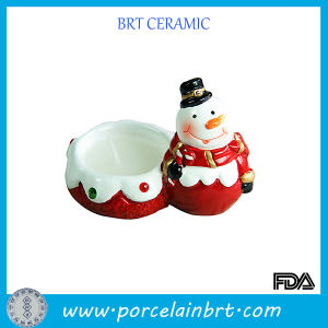 Christmas Snowman Porcelain Candle Holder pictures & photos