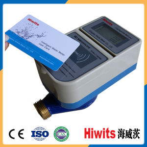 Hot Electronic Brass Wireless Smart IC Card Prepaid Water Meter pictures & photos