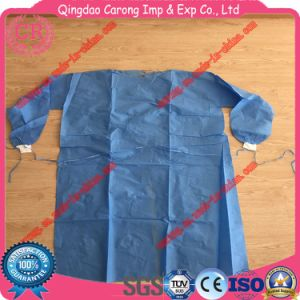 Disposable Sterilized SMS Isolation Gown pictures & photos
