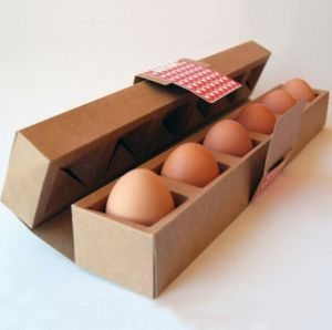 Custom Printing Fluted Paper Egg Packing Box pictures & photos