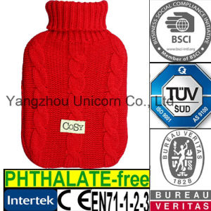 CE Cable Cozy Hot Water Bottle Knit Cover