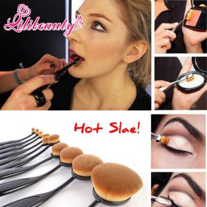 10PCS Oval Toothbrush Shaped Makeup Brush Set pictures & photos