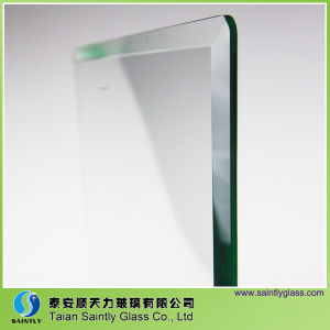 4mm Clear Safety Tempered Glass with Beveled Polish Edge pictures & photos