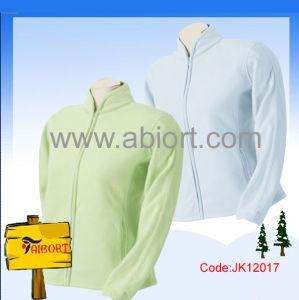 Ladies 100%Polyester Polar Fleecy Fashion Jacket (JK12017)