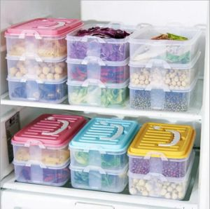Gtx 2 Layers PP Transparent Sealed Crisper Kitchen Food Storage Box Eco-Friendly Storage with Handle-BPA Free pictures & photos