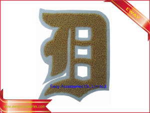 Sport Jacket Flock Chenille Patch Embroidery Chenille Fabric Patch pictures & photos