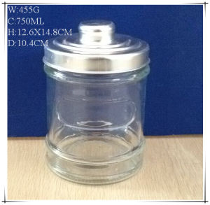 750ml Glass Canisters for Coffee Sugar with Al Lids pictures & photos