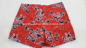 Oeko-Tex Flat Waist Polyester Patterned Lady Board Short Swimwear pictures & photos