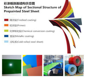 Beautiful Zebrn-Stripe Pattern Designed PPGI Boxing Building Material pictures & photos