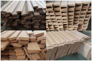 PVC Door Flat Design with Aluminum Strips (SC-P019) pictures & photos