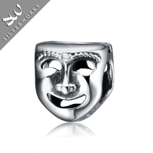 Fashion 925 Silver Head Pattern Beads Silver Charm
