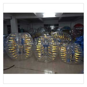 New Popular Yellow Shining Inflatable Bubble Soccer Ball