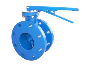 Eccentric Flanged Butterfly Valve with Lever Operator pictures & photos