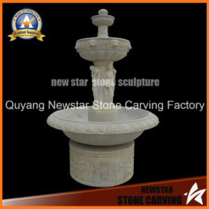 Stone Carving Sculpture White Marble Garden Fountain for Garden Decoration pictures & photos