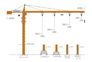 Construction Crane Topkit Tower Crane (TC6013) pictures & photos