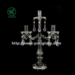 Glass Candle Holders for Party Decoration with Three Posts (9*23*36) pictures & photos