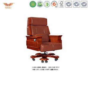 Luxury Wooden Executive Leather Chair (A-063)