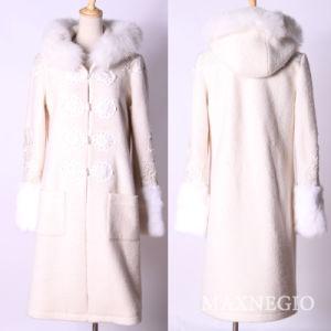 High Quality Hoodie Woolen Outer Coat Women Winter Wear (1-20975)