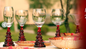 Customized Wine Glass for Christmas Season (B-WG037) pictures & photos