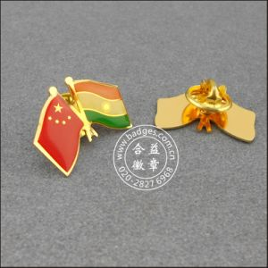 Chinese and Indian Flag Lapel Pin, Badge (GZHY-LP-001) pictures & photos
