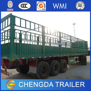 Chengda Trailer 3 Axles Cargo Stake Sidewall Trailer pictures & photos