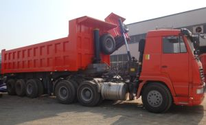 Sinotruk 3 Axle Rear Tipper Truck Trailer pictures & photos