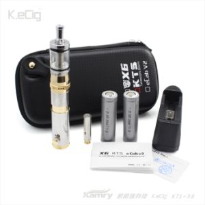2013 Innovative Kts Electronic Cigarette, Mechanical Mod Telescopic Ecigarette with Gold and Silver Color