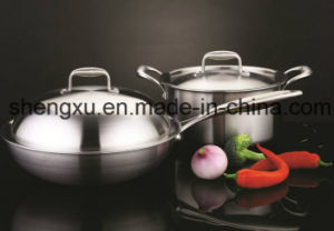 18/10 Stainless Steel Cookware Setting in Kitchen for Gift (SX-CS02) pictures & photos