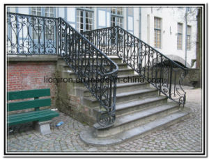 Durable Wrought Iron Balcony & Stair Railing pictures & photos