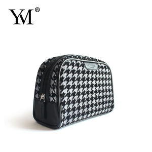 Promotional Houndstooth Pattern Cosmetic Bag pictures & photos
