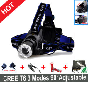 One Set CREE T6 LED Headlamp+Charger+Batteries pictures & photos