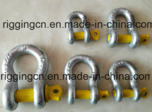 Bow Shackle for Industrial with Yellow safety Pin in Grade S pictures & photos