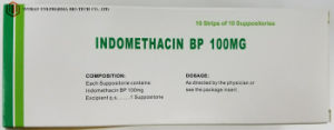 No - Steroidal Indomethacin Suppository External Use Medicine Anti Inflammatory Medicine pictures & photos