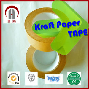 Hot Selling Adhesive Kraft Paper Tape for Box Making pictures & photos