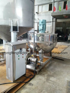 CE 1000lss304 Vertical Steam High Shear Agitator Mixing Jacketed Kettle with Centrifugal Pump