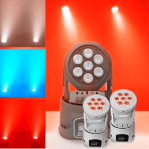 DMX512 RGBWA 12W LED Moving Head Wash Beam Magic Light pictures & photos