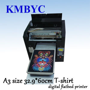 New Model Flatbed Digital T Shirt Printing Machine with Colorful Design pictures & photos