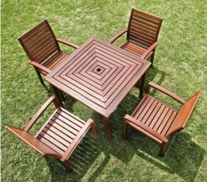 2014 Hot Sale High Quality WPC Park Tables and Chairs pictures & photos