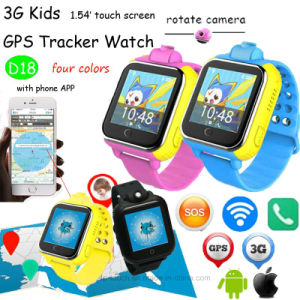 Multiple Languages 3G Kids Tracker Watch with Rotating Camera (D18) pictures & photos