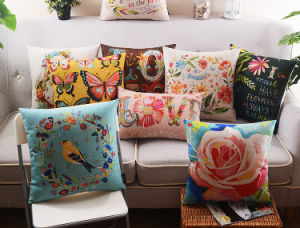 Botanical Decorative Cushion Fashion Transfer Print Pillow (SPL-448) pictures & photos