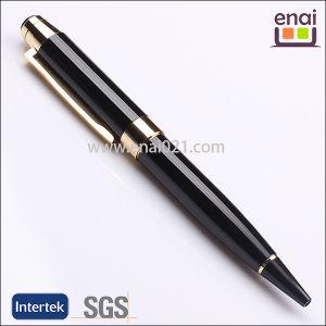 Business Promotion Metal Black Ball Pen with Golden Part (EN139B)