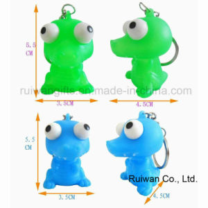 PVC Eye Pop Squeeze Key Ring pictures & photos