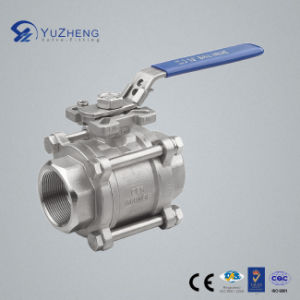 3PC Ball Valve with ISO5211 Pad Lock Handle pictures & photos