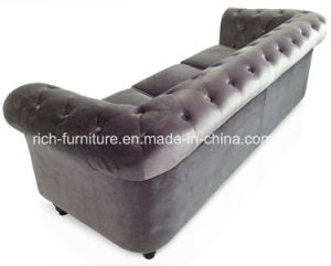 Chesterfield European Style Modern Living Room Hotel Leather Sofa pictures & photos